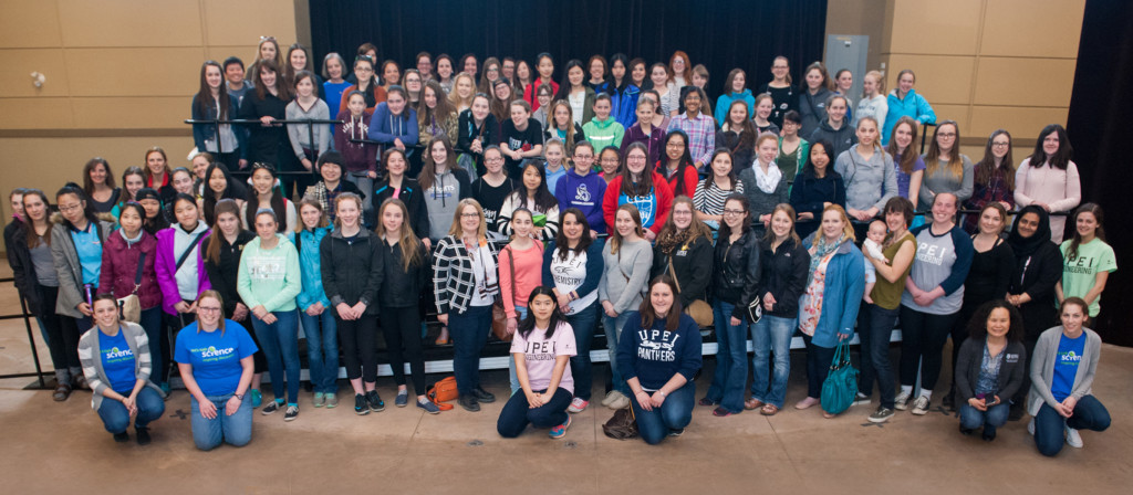 2016 Girls Get WISE participants: junior high girls, volunteers, workshop leaders, and mentors.