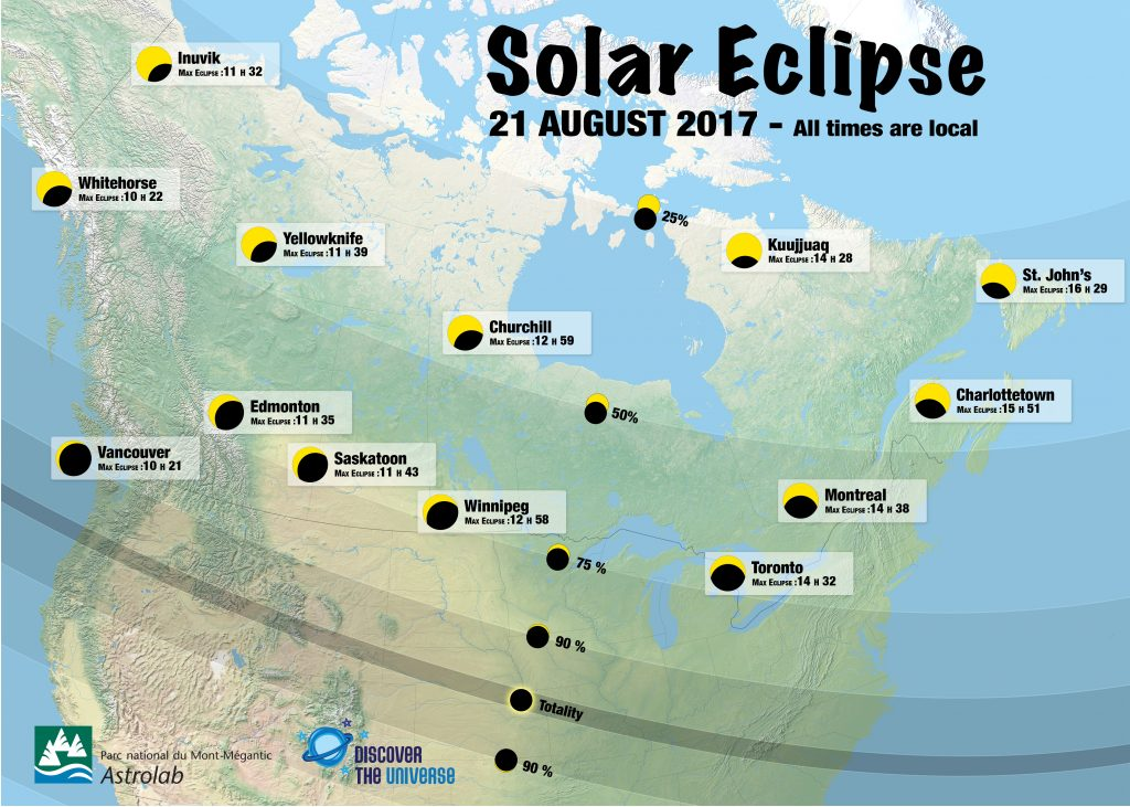 2017 Eclipse Usa Map.Partial Solar Eclipse August 21 2017 Upei Astronomy Information