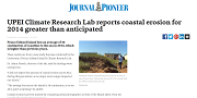 2015 11 13t UPEI Climate Research Lab reports coastal erosion for 2014 greater than anticipated