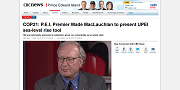 2015 12 05t COP21 PEI Premier Wade MacLauchlan to present UPEI sea-level rise tool