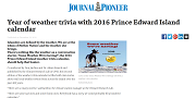 2015 12 23t Year of weather trivia with 2016 Prince Edward Island calendar