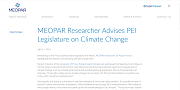 2016 04 11t MEOPAR Researcher Advises PEI Legislature on Climate Change