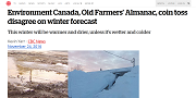 2016 11 24t Environment Canada Old Farmers Almanac coin toss disagree on winter forecast