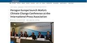 2016 12 14t Paragon Europe launch Maltas Climate Change Conference at the International Press Association