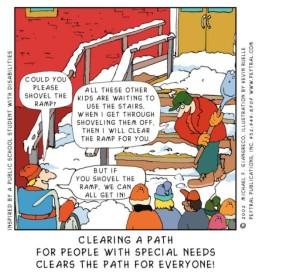 shovel the ramp
