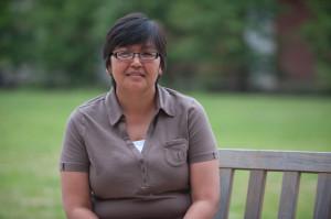 Mary Etuangat on bench(2)