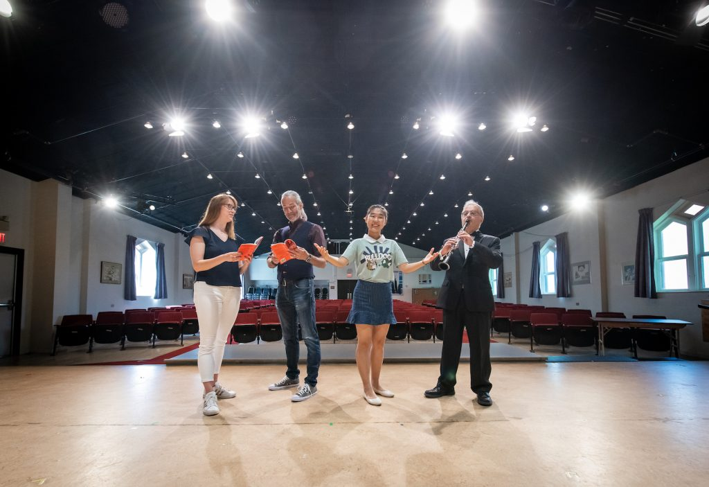 four performers in upei's steel recital hall
