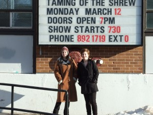 Opening night of The Taming of the Shrew. (2012)